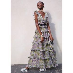 GIAMBATTISTA VALLI x H&M Long Tiered Maxi Dress